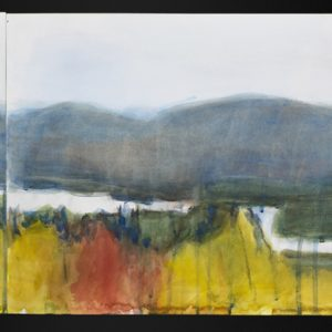 "2005 Autumn View 1(October Colors 1) 12 ½"" x 85"" (5 sheets, each 12 ½"" x 17""), watercolor, charcoal, graphite on paper"