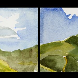 "2013 Presidentials, 4"" x 36"" (6 sheets each 4"" x 6""), watercolor on paper"