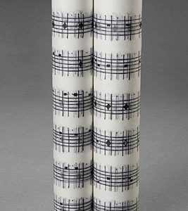 """Daily Moon Music Scroll, 2007, graphite, ink, china marker on vellum scroll, c. 12"""" x 15'."""